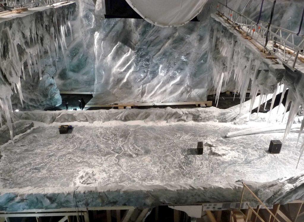 <p>Wickie 2: Eislandschaft, Kulissenbau, Umsetzung mit Saurus, Auftraggeber: Constantin Film</p>