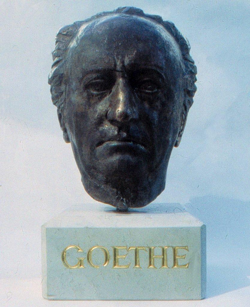<p>Goethe-Portrait nach einem lebend Abguss</p>