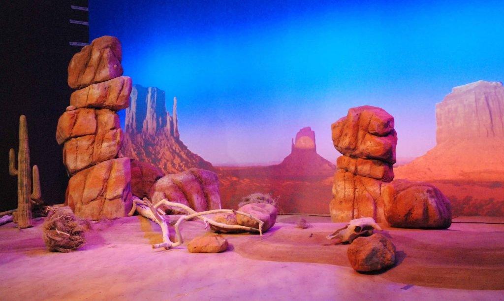 <p>Wüstenlandschaft, Event-Design, Auftraggeber: VW</p>