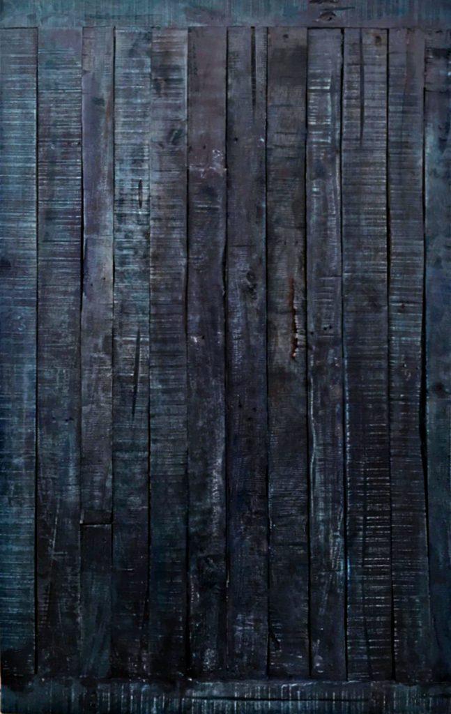 <p>Holzoverschlag mit Farbstruktur, Fotoset</p>